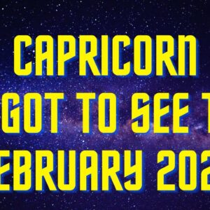 😱CAPRICORN* BEST READING EVER! FEBRUARY 2021 TAROT MESSAGES 😍