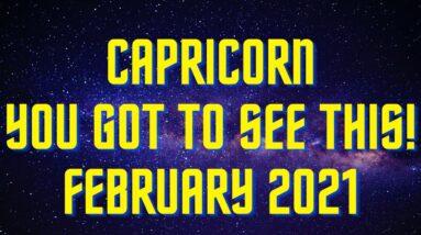 😱CAPRICORN* BEST READING EVER! FEBRUARY 2021 TAROT MESSAGES 😍