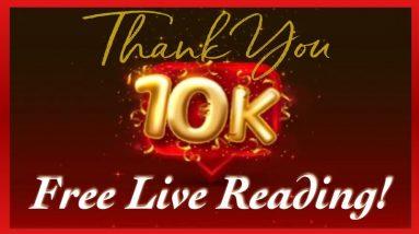 ✨BONUS LIVE✨ TAROT READING 🔮Free Readings for Subscribers  Celebrating 10,000+ Subscribers 🎉🙏🏻💜